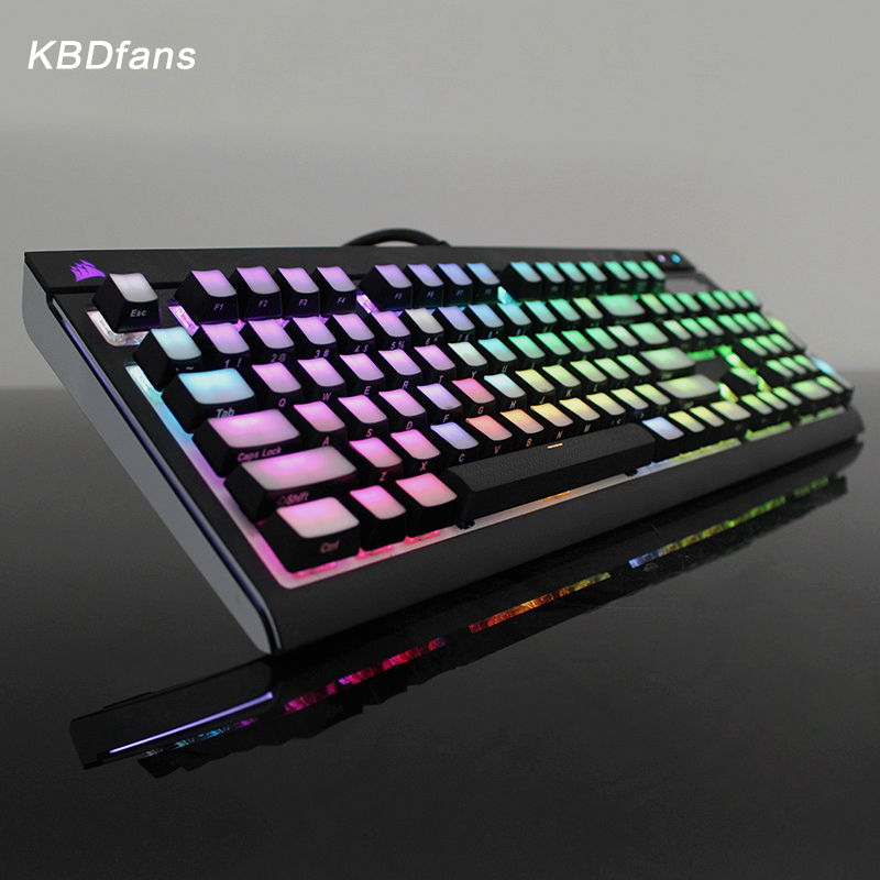 Front/Side Printed Backlit Keycaps 104/87 ISO ANSI layout Translucidus Backlit abs Keycaps For Corsair K65 K70 Logitech G710