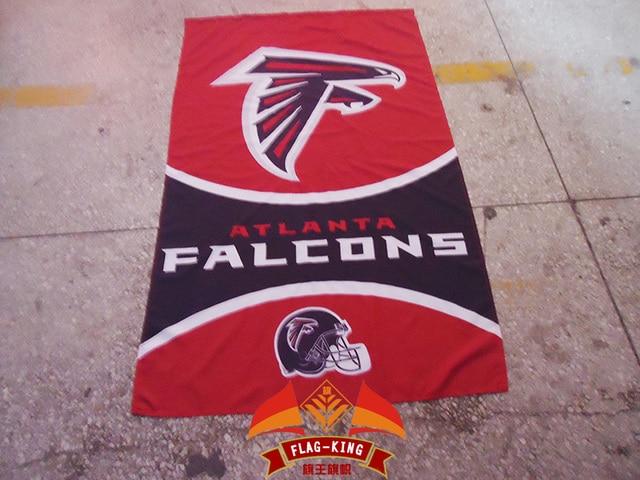 Atlanta Falcons Con Sfondo Rosso Rugby Casco Bandiera Del Club