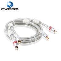 Choseal Q614 2RCA Do 2RCA Kabel Audio-wideo Pozłacane RCA Męski Na Męski Kabel 1 M-15 M Dla Odtwarzacza DVD/TV/Głośnik/Wzmacniacz