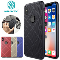 Nilkin For IPhone X Case NILLKIN Air Heat Dissipation Hard PC Luxury Full Protective Phone Cover