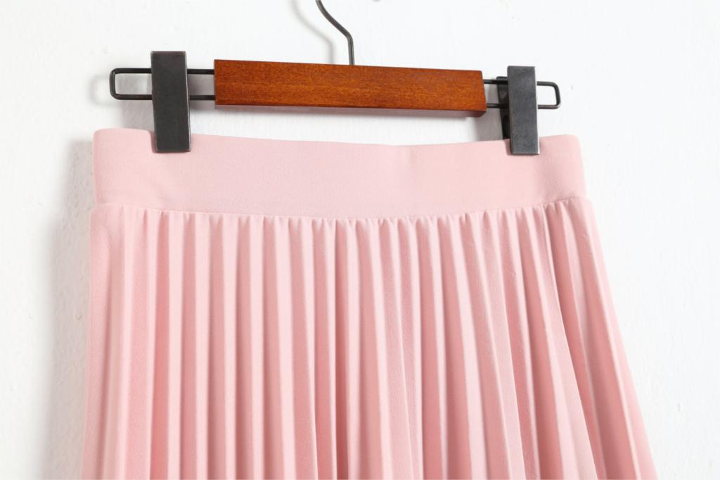2016 spring all-match chiffon skirt waist fold slim skirt pleated skirt Department summer slim skirt 21