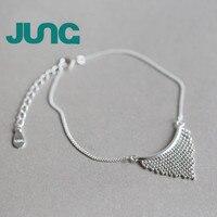 JUNG Nieuwe Mode Charme Gratis Verzending Bohemen Driehoekige Kwasten 925 Sterling Zilveren Armbanden Party Sieraden Voor Vrouwen S170009