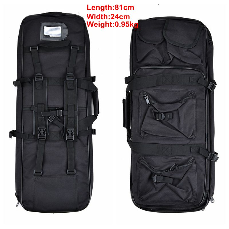 Outdoor Military Hunting Bag Nylon 81CM Tactical Shooting Bag Square Carry Gun Bag Hand Gun Accessory Protection Case Backpack-in Holsters from Sports & Entertainment