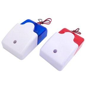 HH-103 strobe sirene mini sound alarm lamp knipperend rood lampje bedrade 12 V 24 V 220 V 110DB(China)