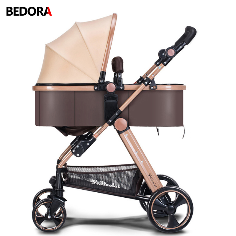 Bedora Kids High Quality High Landscape Strollers Aluminum Alloy Material 0-3 Years Old Can Sit Can Lie Trolley Free Shipping free shipping bko c2457 h01 no new old components sensor module can directly buy or contact the seller