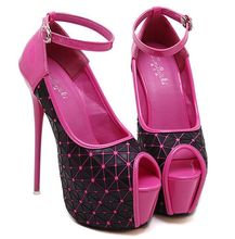Size 4 9 Peep Toe Autumn font b Women b font Shoes New 16cm High Heels