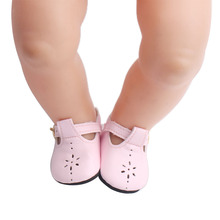 43 cm baby dolls shoes newborn cute pink PU shoes dress shoe Baby toys fit American 18 inch Girls doll g8 18 inch girls doll shoes winter woolen slippers casual shoe american newborn accessories baby toys fit 43 cm baby dolls s129