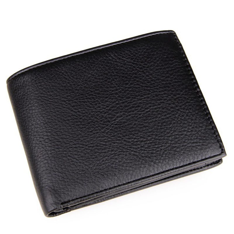 Black Genuine Carteiras Masculinas Cowhide Leather Men Short Wallet Purse Card Holder Coin Pocket Male Wallets Purses For Boys flying birds 2016 wallet leather purse dollar price men bags wallets card holder coin purses short wallet men s bag lm3421fb