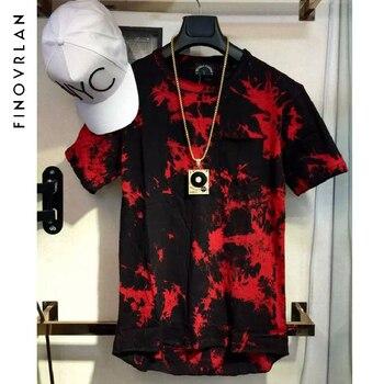 Nueva Summer extended Curved hem T Shirt hombres camuflaje hip hop camiseta  alargada Justin Bieber Kanye West 318aeffa46b
