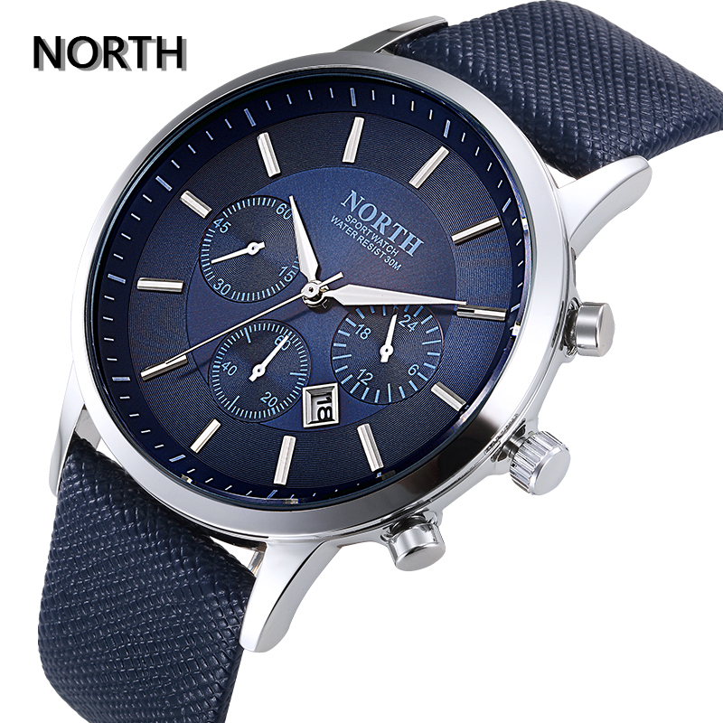 NORTH Men's Fashion Business Watches Luxury Brand Casual Military - Men's Watches