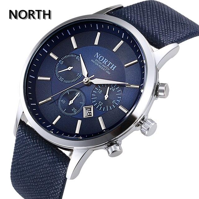 NORTH Men's Fashion Business Watches Luxury Brand Casual Military Waterproof Wri