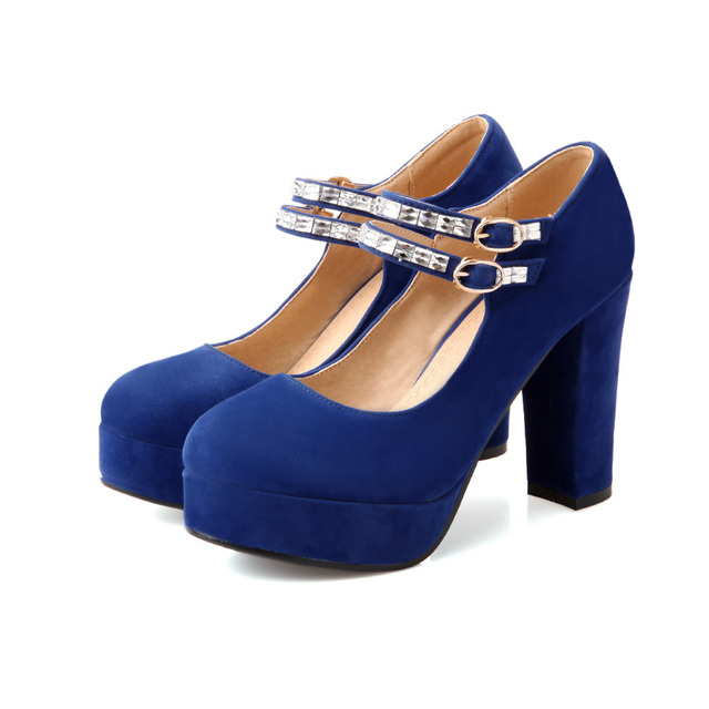 ac87114f32 Brand New Hot Fashion Women Platform Pumps Black Blue Red Ladies Shoes High  Heels Pointed AWM621-2 Plus Big Size 32 43