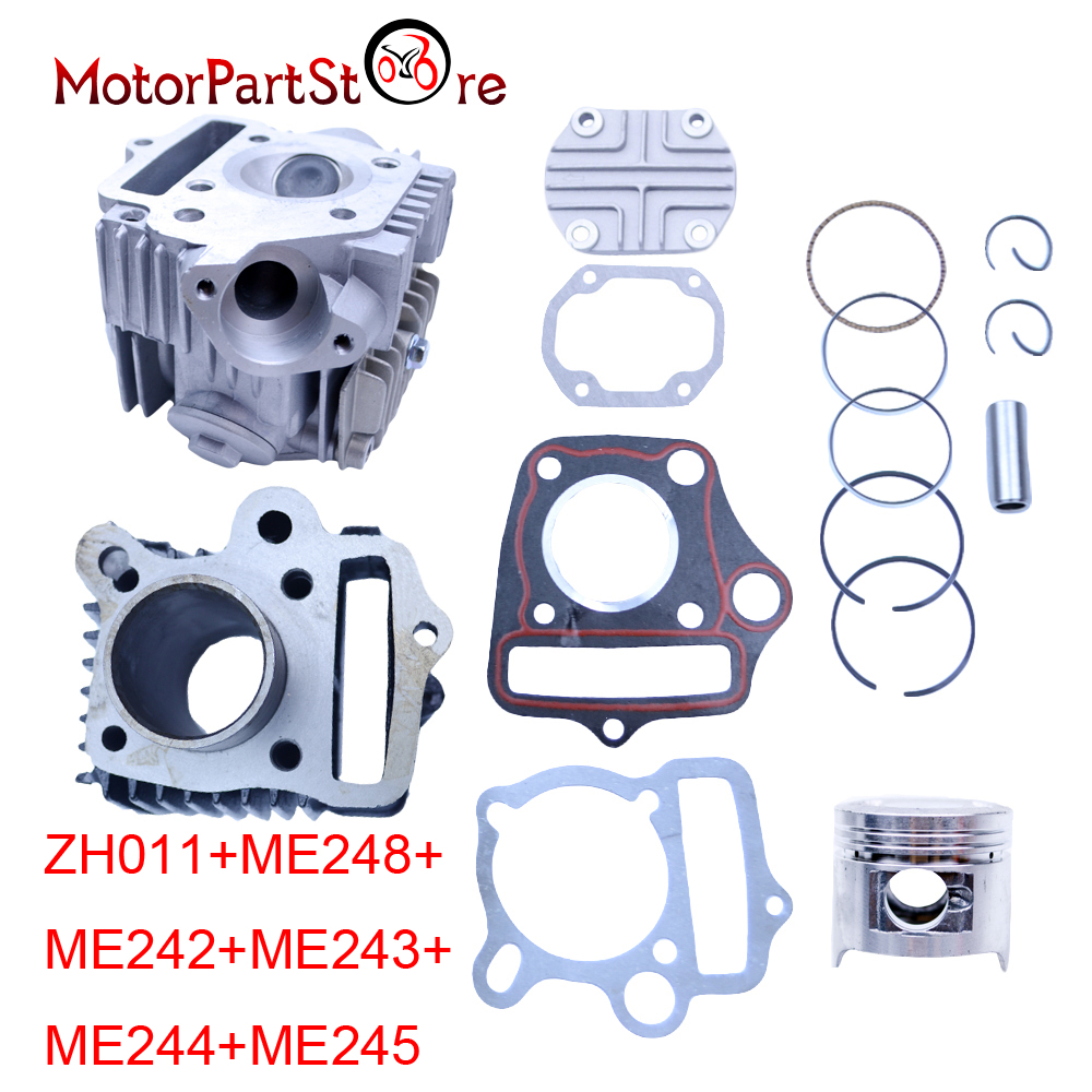 70cc Engine Cylinder Piston Rings Gasket Rebuild Kit for HONDA ATC70 CRF70 CT70 TRX70 XR70 C70 S65 Motorcycle Dirt Bike Parts * 38mm engine housing cylinder piston crankcase kit fit husqvarna 137 142 chaisnaw