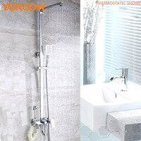 Bathroom Accessories Solid Brass Chrome Douche System Shower Sets Hand Shower head High pressure shower Hose Wall Rain TM0004
