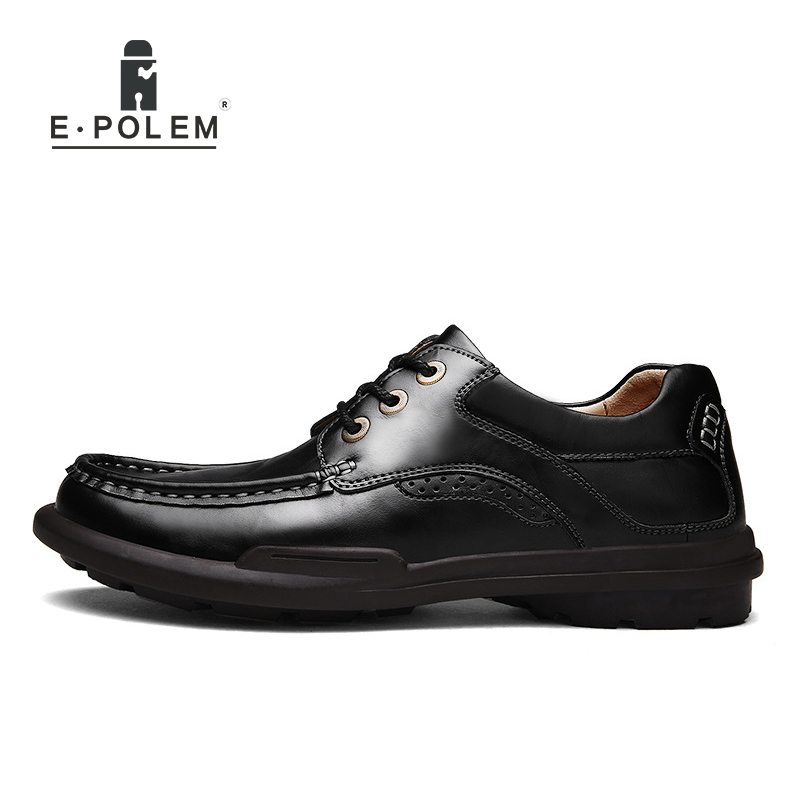 2017 Spring Autumn New Arrival England Style Men Shoes Male Business Casual Genuine Leather Breathable Lace-Up Comfortable Shoes klywoo new white fasion shoes men casual shoes spring men driving shoes leather breathable comfortable lace up zapatos hombre
