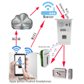 Remote monitor Fingerprint Wifi video door phone with wireless music bell