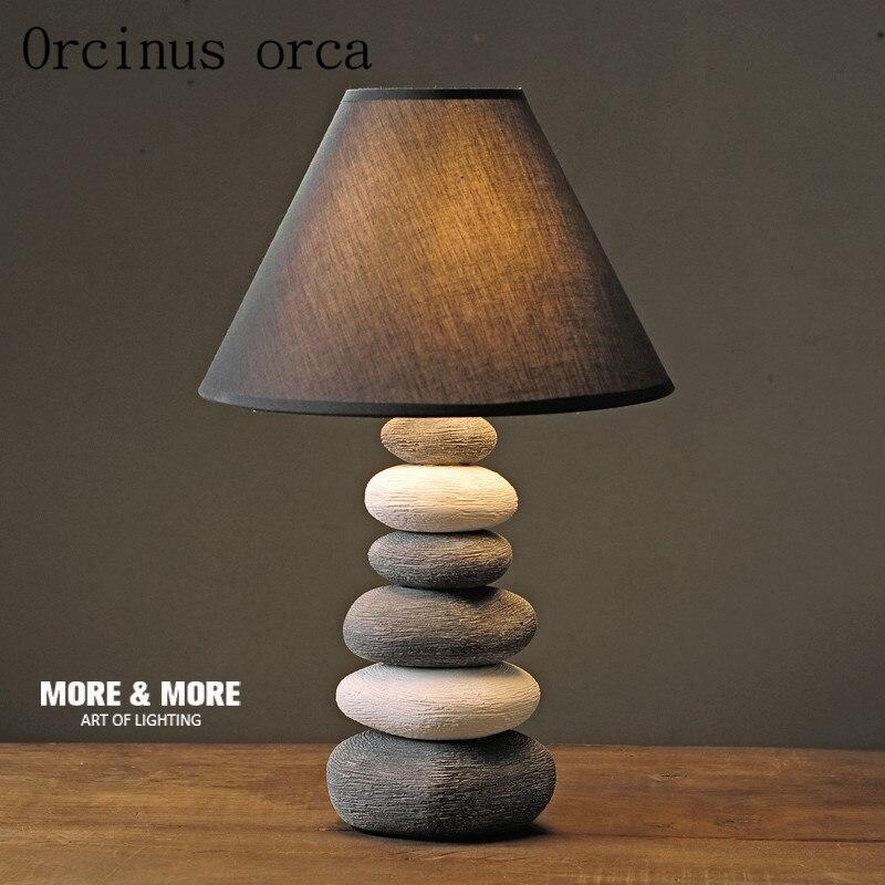 Американский керамический светильник прикроватная тумбочка для спальни творческий простой современная мода прекрасный теплый свет ночни...