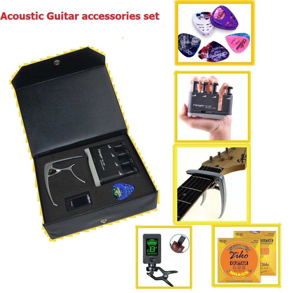 Guitare acoustique capo médiators, jeu d'accessoires de guitare d'exercice de doigt VPS01