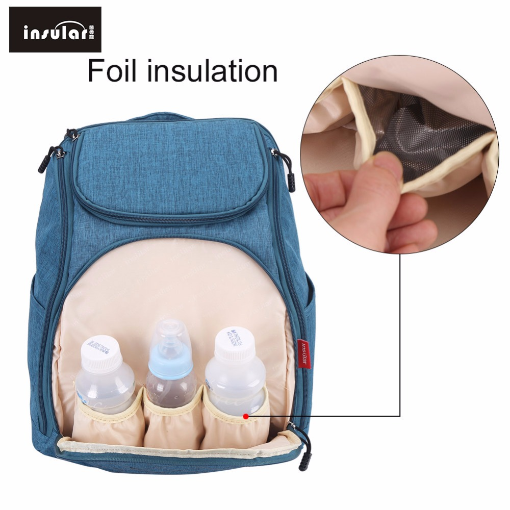 Insular Baby Mummy Maternity Nappy stroller changing Bag Large Capacity Travel Backpack Diaper Designer Nursing Bags For Mom