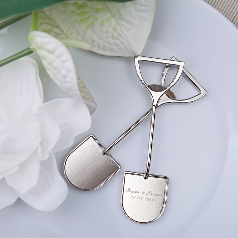 Free Shipping 100pcs lot House Moving Favors Shovel bottle opener Party Favors with Personality service