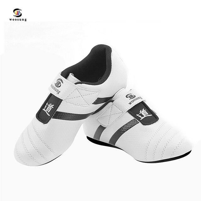 Тхэквондо обувь спорт бокс Кунг-фу Тайцзи обувь для мужчин и женщин детей размер 27-44
