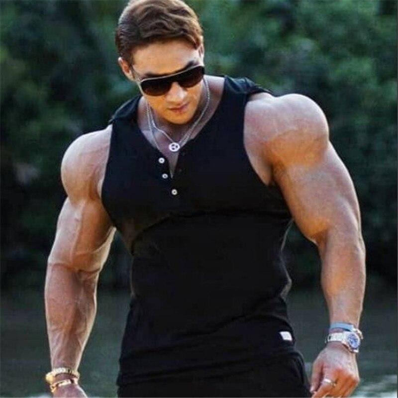 2019 New Mens  Sleeveless Hoodies Fashion Pullover Leisure Coat Gyms Fitness Bodybuilding  Sweatshirt Male Sportswear Clothing