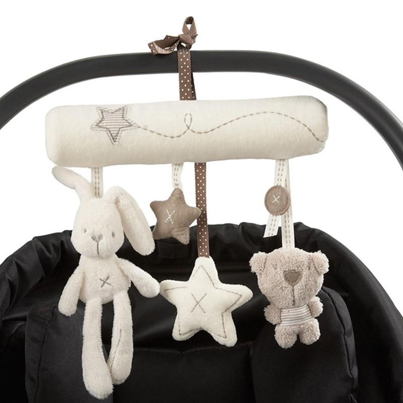 Rabbit copilul agățat pat scaun de siguranță pluș jucărie Hand - Jucării pentru bebeluși și copii mici - Fotografie 2