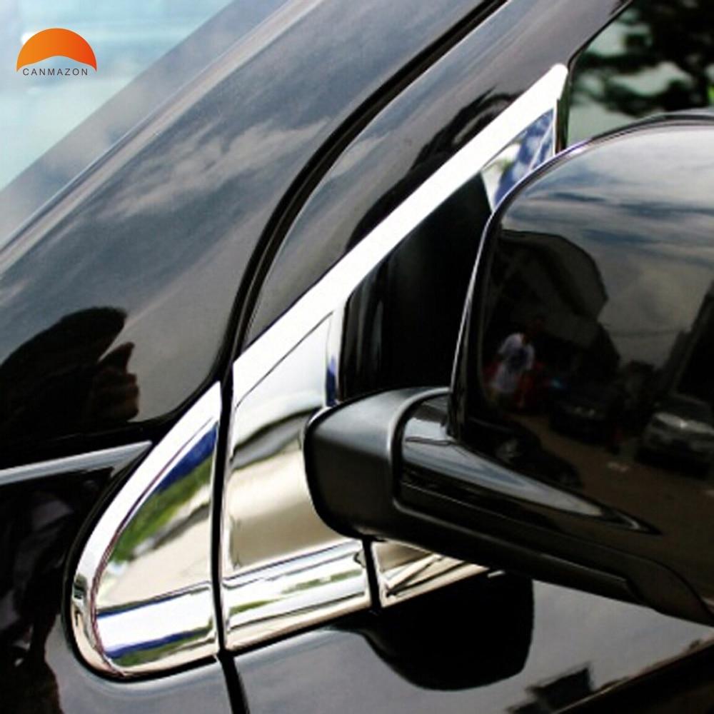 Pour Dodge Journey JCUV 2013 2014 2015 2016 arrière rétroviseur support pilier couverture fenêtre triangulaire décoratif garniture 6 pièces