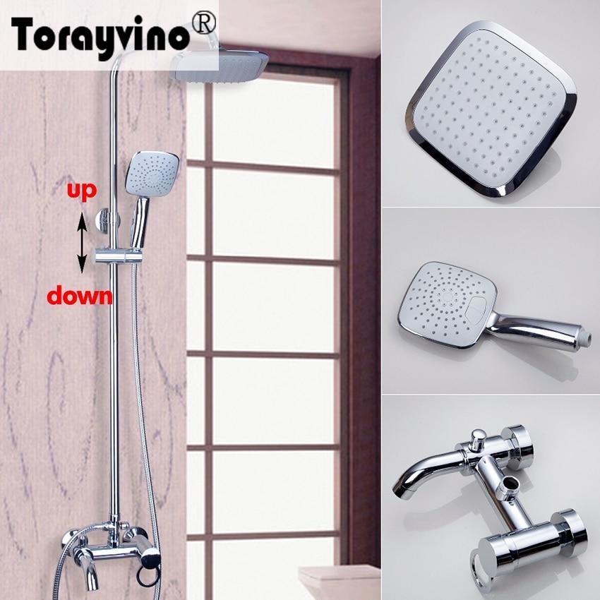Torayvino Polished Chrome Water Tap Bathroom Faucet Wall Mounted Shower Set torayvino polished chrome water tap bathroom faucet wall mounted shower set