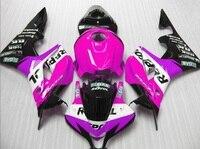 H REPSOL sale Purple/rose fairing set Injection molding for HONDA CBR 600 RR fairings 2007 2008 motobike fairing cbr600rr 07 08