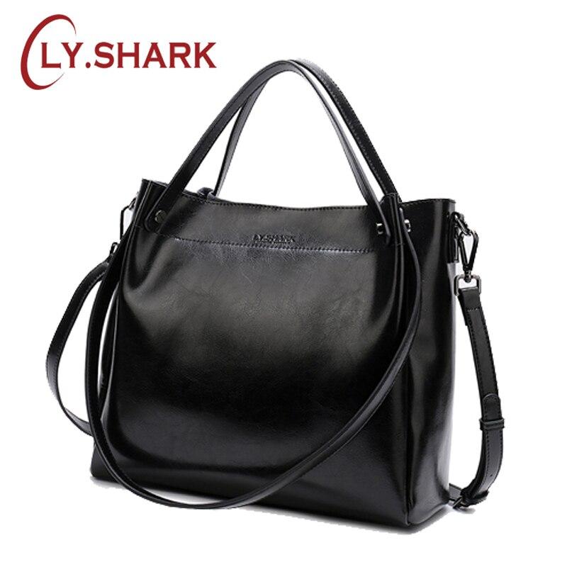 LY. requin 2019 femme grand sac en cuir véritable sacs pour femmes bandoulière Messenger sac femmes sac à bandoulière femmes mode sac à main