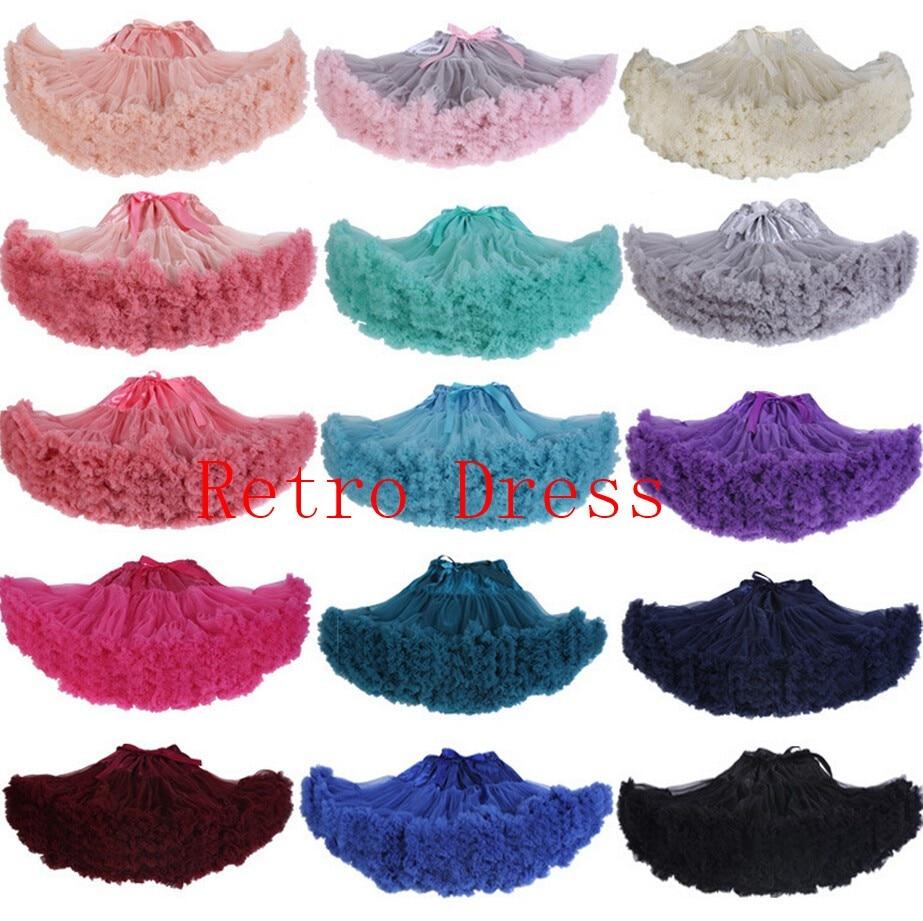 Drop shipping Extra Fluffy Teenage Girl Adualt Women Pettiskirt Tutu Skirt Women Tutu Party Dance Adult Skirt Performance Cloth
