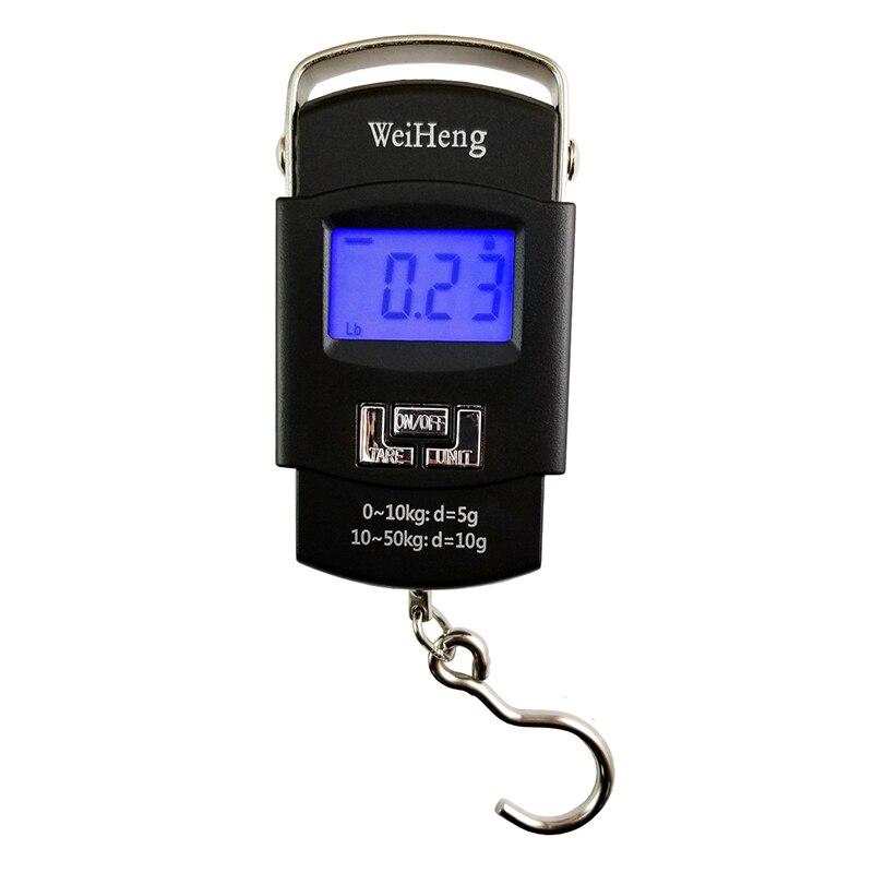 50kg 5g Temperature sensor Hanging Hook Fishing Digital Electronic Scale