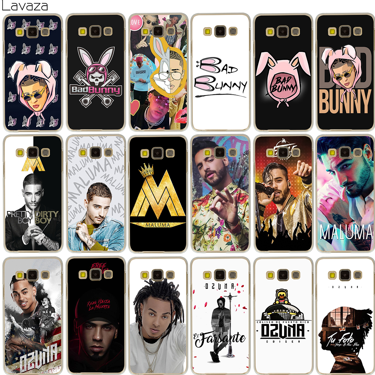 Lavaza Bad Bunny Maluma Ozuna POP Hip Hop Rapper Case for Samsung Galaxy Note 8 A3 A5 A8 J3 J5 J7 2016 2017 2018 ...