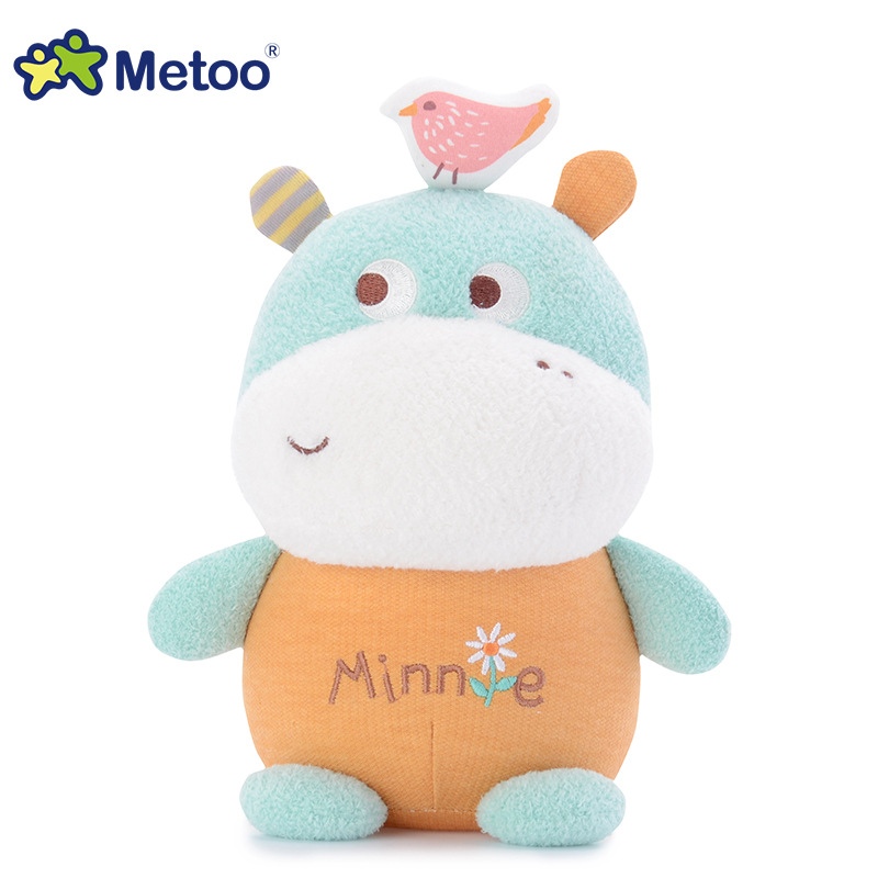 7 Inch Kawaii Plush Stuffed Animal Cartoon Kids Toys for Girls Children Baby Birthday Christmas Gift Hippo Metoo Doll 13 inch kawaii plush soft stuffed animals baby kids toys for girls children birthday christmas gift angela rabbit metoo doll