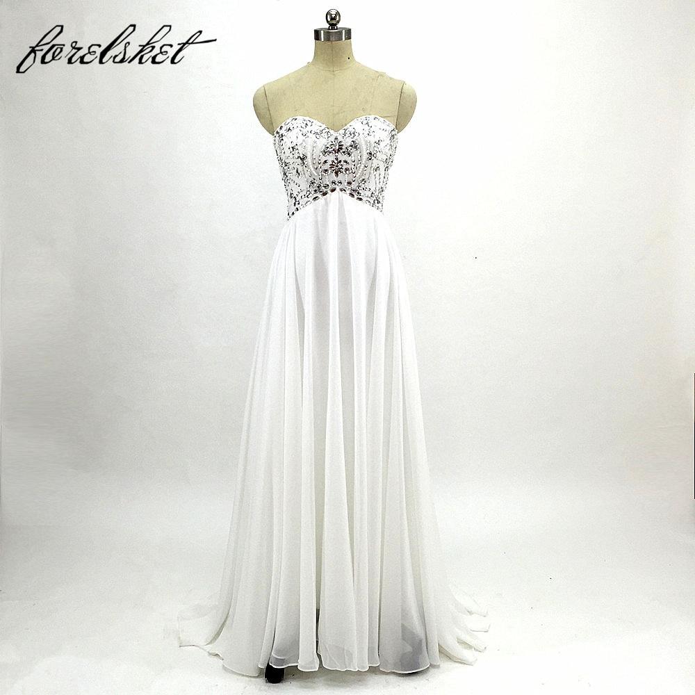 13970802d9 White/Ivory Stock Plus Size Wedding Dress Elegant Beaded Chiffon Beach  Bridal Gowns Vestidos de Novia 2019 Chiffon Wedding Dress
