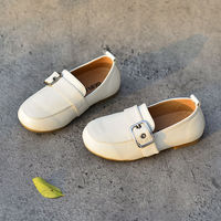 Genuine Leather Children School shoes casual shoes Non-slip Bottom Boys Oxfords Loafers shoes Kids Sneakers