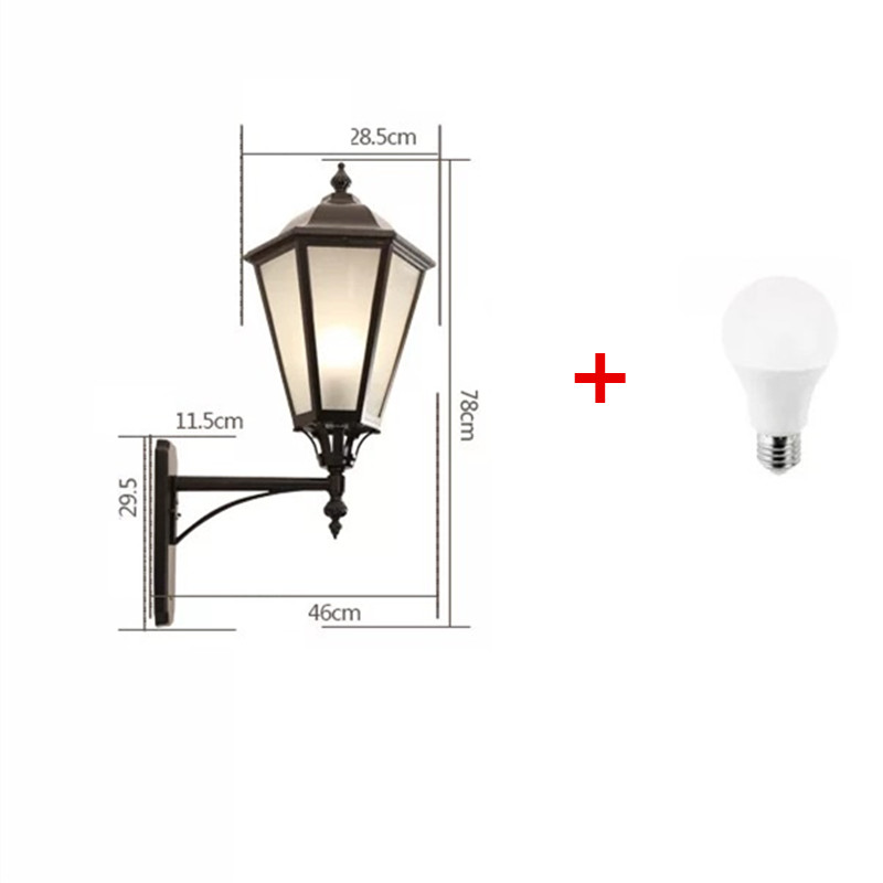 HAWBERRY LED outdoor waterproof large simple European home garden balcony retro wall lamp door wall stairwell corridor light in Outdoor Wall Lamps from Lights Lighting