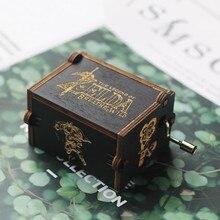 Новая Легенда о Zelda рукоятка деревянная музыкальная шкатулка черная Красавица и Чудовище Звездные войны Луна Сейлор день рождения рождественские подарки