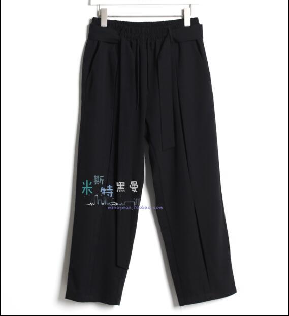 2018 Costumes Et La Trois Plus Taille De Styliste Confortable Lâche Coréenne Mode Graisse Black Dimensions En Jambe Hommes Casual Frein Pantalon rxwHCYqr
