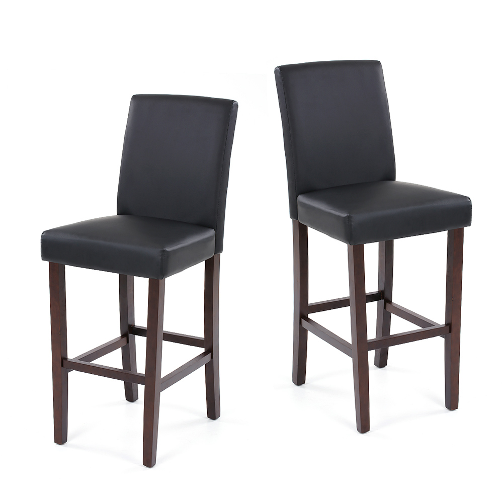 Wondrous Us 116 26 25 Off Ikayaa Us Stock Pu Leather Bar Pub Dining Chairs Wood Frame Padded Kitchen Side Parson Chair Stools Restaurant Furniture In Gmtry Best Dining Table And Chair Ideas Images Gmtryco