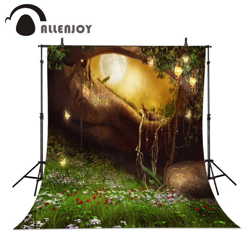 Allenjoy Backgrounds filming Wonderland Butterfly Fairy Lights Moon professional camera photography vinyl backdrops