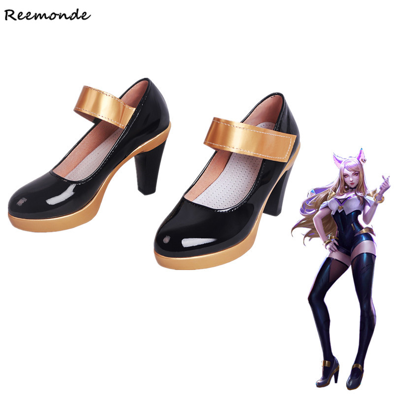 KDA AHRI Cosplay Costume Shoes LOL K DA Cosplay Game High Heeled Shoes For Women Ladies