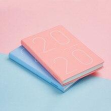 Agenda 2019 2020 organisateur de planificateur A5 carnet de notes et revues mensuel hebdomadaire bloc notes bureau calendrier de voyage livres à main