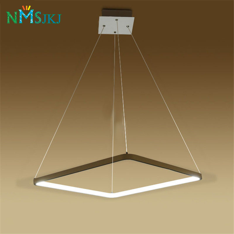 Modern LED Simple Pendant Lights Lamp For Living Room 3 2 1 Square