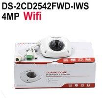 Hikvision DS-2CD2542FWD-IWS Audio 4MP WDR Mini Dome IP Network Camera, P2P wireless cctv camera POE