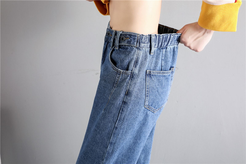 GCAROL New Women 93% Cotton Blends Pencil Denim Pants High Waisted High Street Boyfriend Style Jeans In 3 Colors Plus Size 26-32 27