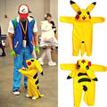 Lindo nueva infant toddler Newborn Baby Girl Boy go pokeball Pokemon Pikachu ceniza Mamelucos Del Mono Trajes de cosplay Traje de halloween