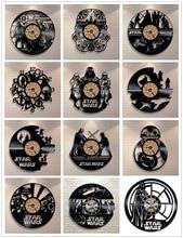 Звездные войны 3D Настенные Часы Винил Часы Творческий Кулон Часы, Украшения Дома