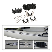 Pad Eye Anchor Trolley Kit for kayak DIY Kayak Cleat Set With Well Nuts Stainless Steel Screws Rivets